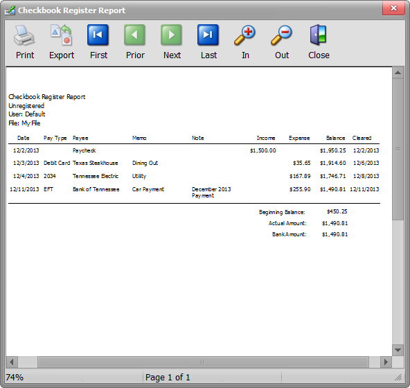 checkbook programs for windows